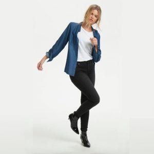 Celina Jeans Long Custom Medium Grey Wash