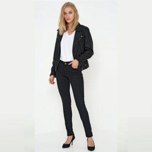 Celina Jeans Zip Custom Medium Black Wash