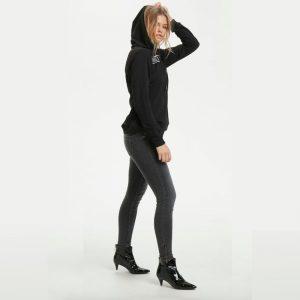 Celina Jeans Zip Custom Medium Grey Wash