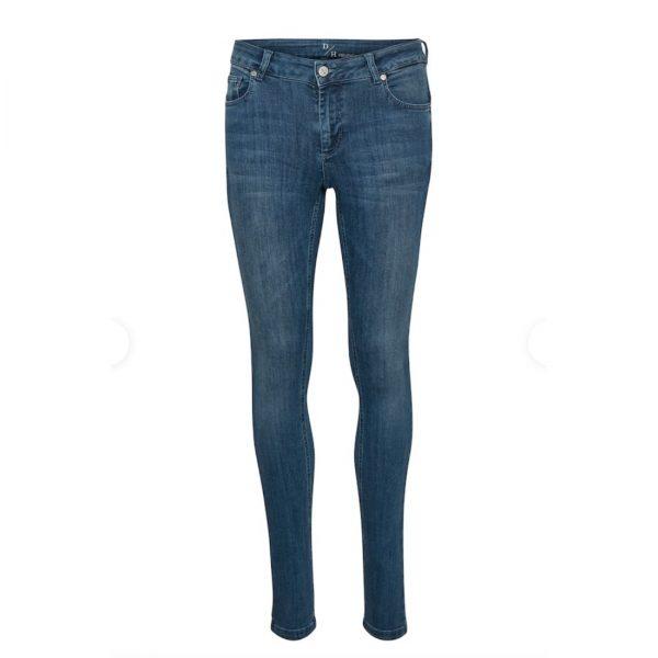 Celina Jeans Long Custom Medium Blue Vintage Wash