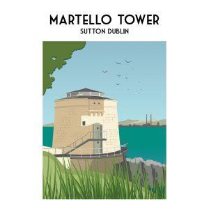 Martello Tower Sutton Print
