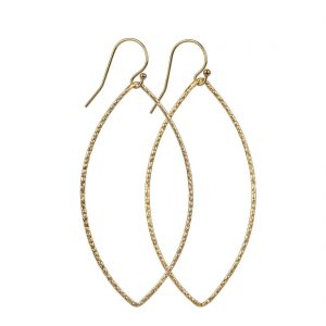 14kt Gold Filled Hammered Oval Earrings - Large