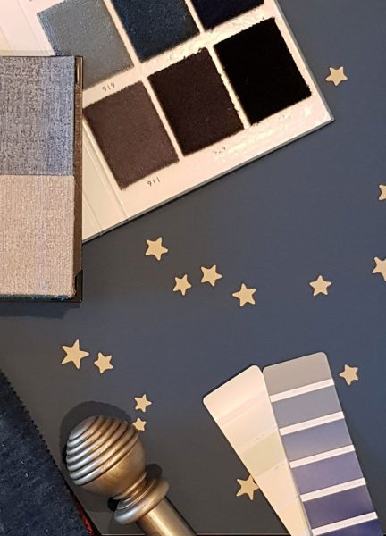 This blue dream is for a 5 year old boy.  Again this style room will grow with him. Blue can be thought of as a cold colour, but we feel this is a cosy warm blend.